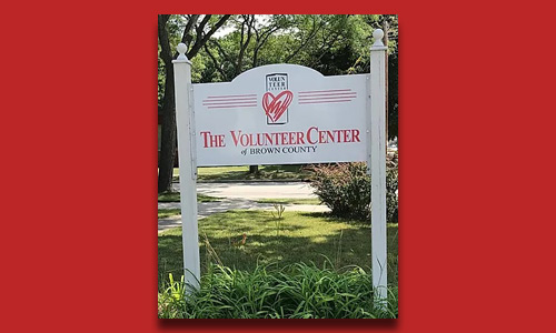 Volunteer Center new sign